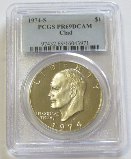 $1 1974-S IKE PCGS 69 PROOF