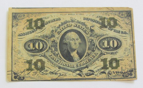10 CENT FRACTIONAL CURRENCY THIRD ISSUE