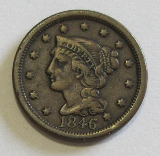 1846 BRAIDED LARGE CENT