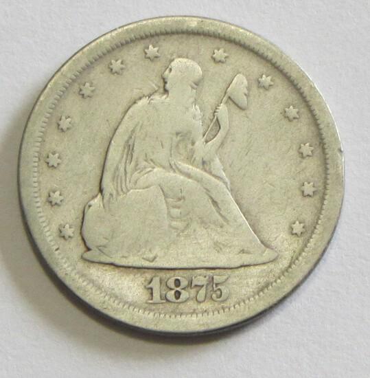 1875-S 20 CENT PIECE