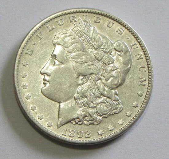 $1 1892 MORGAN SILVER DOLLAR