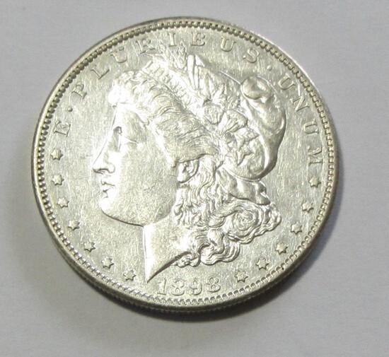 $1 1898-S MORGAN SILVER DOLLAR