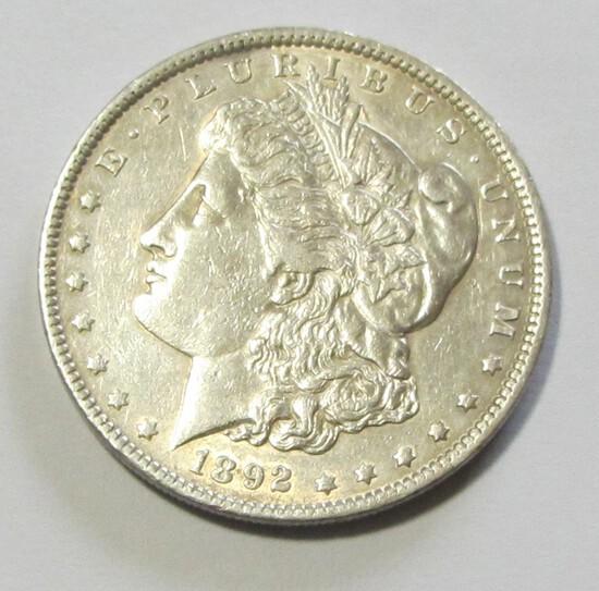 $1 1892 MORGAN TOUGH DATE