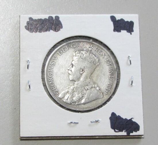 SILVER 1918 CANADA HALF DOLLAR