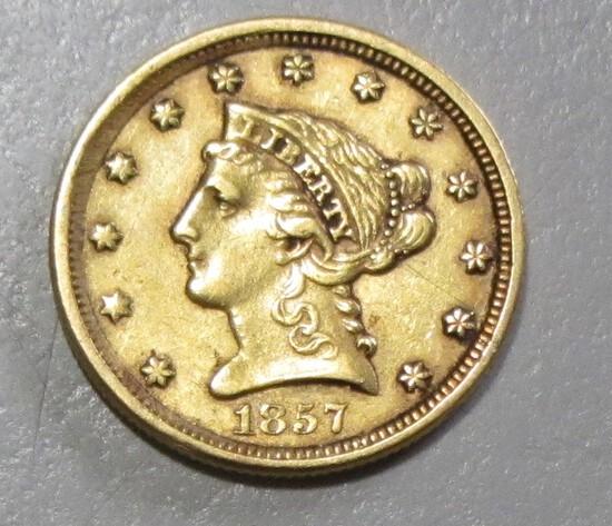 1857 GOLD $2.5 QUARTER LIBERTY EAGLE