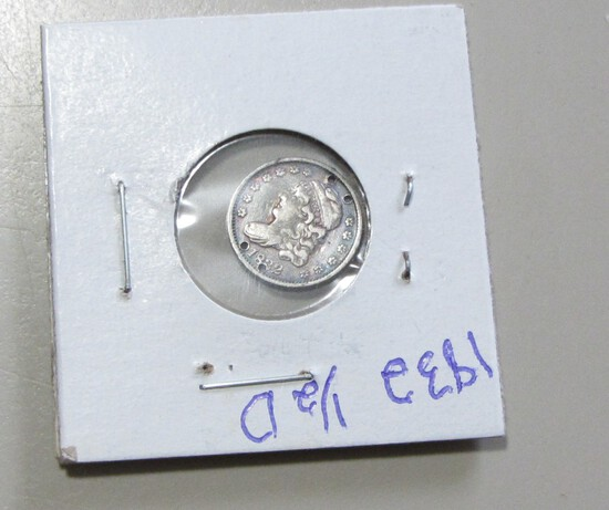 1832 CAPPED BUST HALF DINE HOLES
