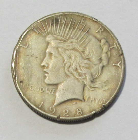 KEY DATE $1 1928 PEACE DOLLAR