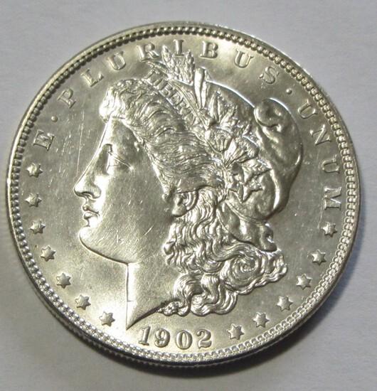 BU $1 1902 MORGAN CARTWHEEL LUSTER