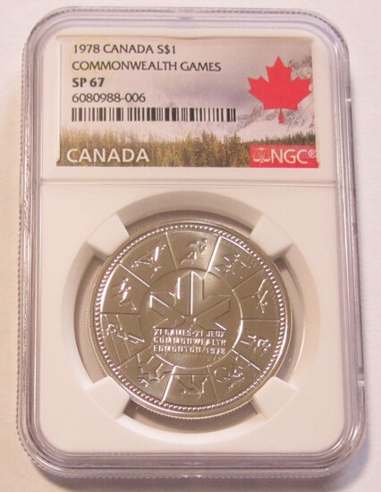 1978 SILVER $1 CANADA COMMONWEALTH NGC SP 67