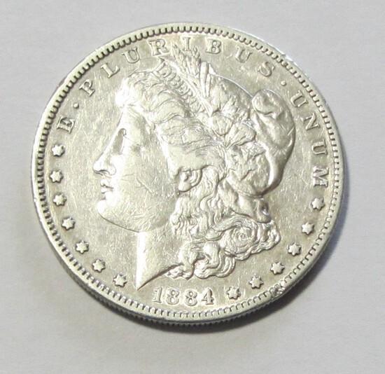 $1 1884-S MORGAN TOUGHER DATE