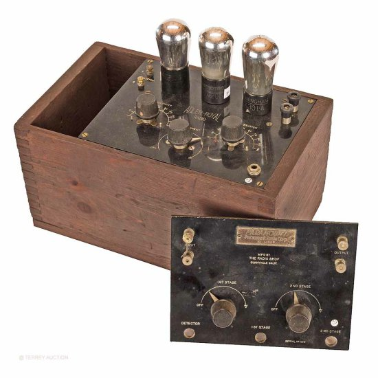 Adler Royal & Paramount. 3-tube receiver & Rheostat Panel