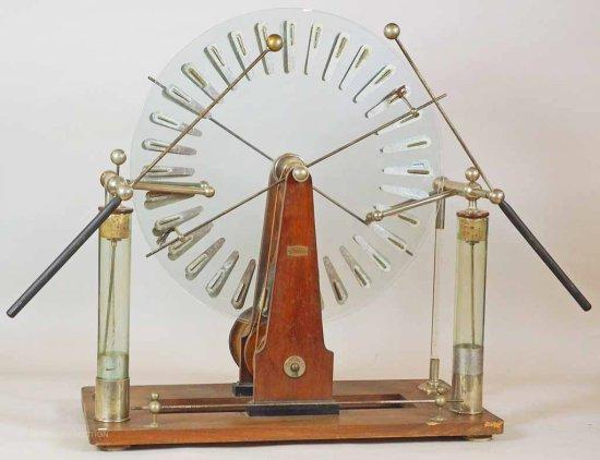 Electrostatic Machine by Tassera, A., Grenoble.  Wimshurst-type Machine - Large