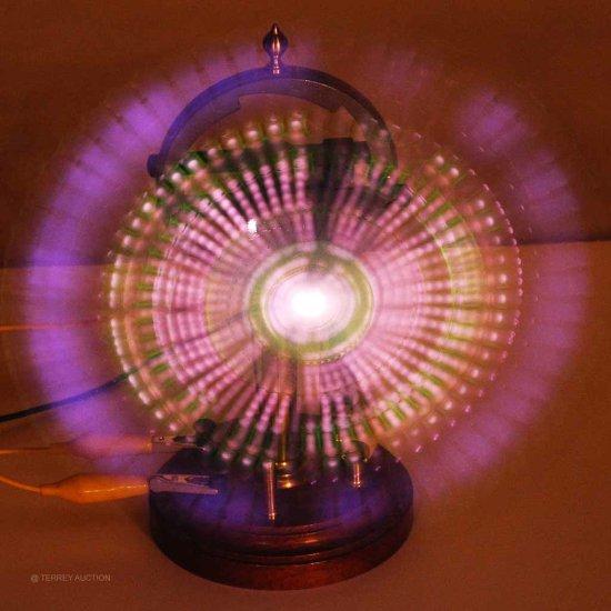 Electronic Demo. Apparatus.  Geissler Tube Rotating Mount & Geissler tube.
