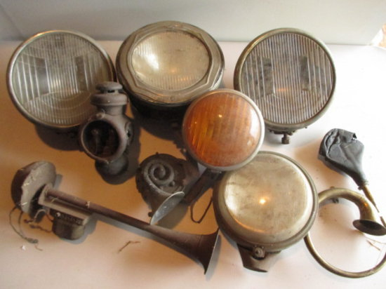 Automobile Headlights, Horns and Carriage Lantern