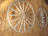 Pair of Wagon Wheels 46