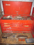 Snap On Toolbox with Machinist Calipers, Welding Supplies and Other Tools