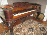Allen & Jewett Antique Spinet Piano - Leg Chipped