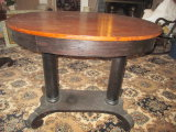 Mahogany Refinished Library Table