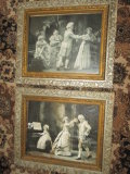 2 Antique Framed Dance Prints - 1 Missing Glass 27