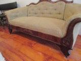 Mahogany Victorian Sofa 6'