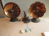 2 Vintage Electric Heaters and Lamp with Heat-ray Bulb