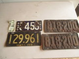 Massachusetts Porcelain license Plates, 1921 New York Commercial Plates, etc.