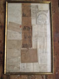 Framed 1800's and Early 1900's Northborough Tax Receipts & other Ephemera