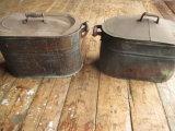 Pair of Copper Boilers