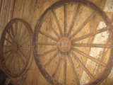 2 Large, Heavy Wagon Wheels 54