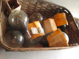 Large Vintage GE Lightbulbs & Others in Antique Laundry Basket