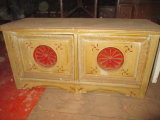 Painted 2 Door cabinet - Dragon on Side