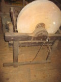 Treadle Grinding Wheel (As Found) and other Farm Machine