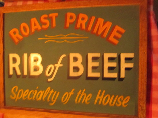 "Roast Prime Rib of Beef sign paint on chalkboard 24"" X 18"" - staining"