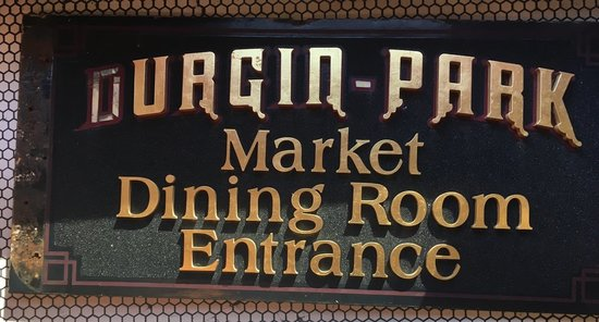 "Durgin Park Entrance Market Room sign 48"" X 24"" loose letter 1 side other side missing 2 1/2 letters"