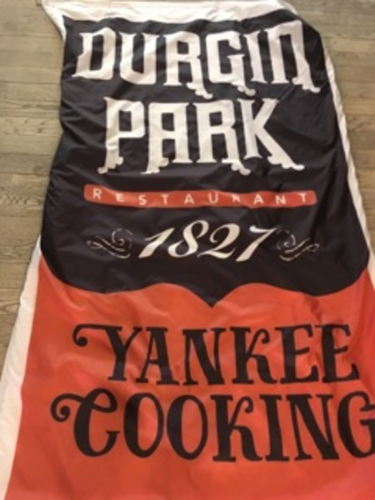 "Banner from outside of Durgin Park 56"" X 8'"