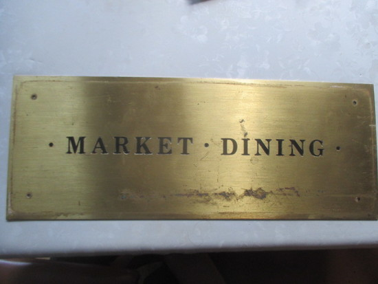 "Market Dining Brass Sign 22"" X 82"""