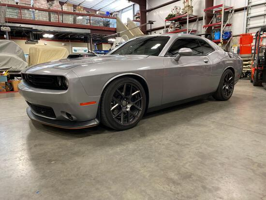 2016 DODGE CHALLENGER WITH SCAT PACK/ SHAKER PACKAGE, APPROX 9850 MILES SHOWING, RUNS AND OPERATES