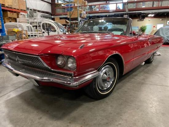 1966 FORD THUNDERBIRD CONVERTIBLE, ROADSTER TOP, ALL POWER, 390 V8, ALL TOP COMPONENTS RESTORED OR
