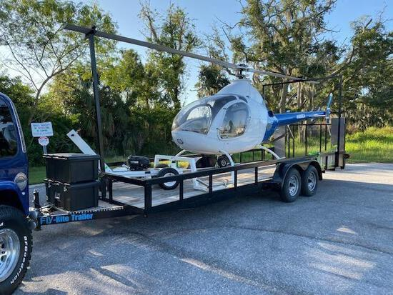 ROTORWAY 90 EXEC HELICOPTER, FAA CERTIFIED THROUGH 11/30/2021, 2019 TRAILER & TUGGER INCLUDED
