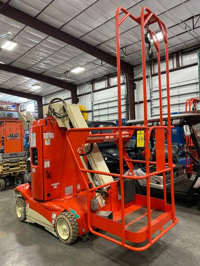 HAULOTTE ELECTRIC MAN LIFT, BUILT-IN BATTERY CHARGER, RUNS SND OPERATES, 214 HOURS SHOWING