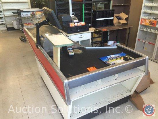 Lozier Powered Belt Checkout Counter  Includes Belt Conveyor