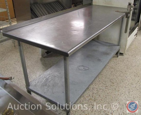 Advance NSF Stainless Steel Pr Auctions Online Proxibid - Stainless steel table with lip