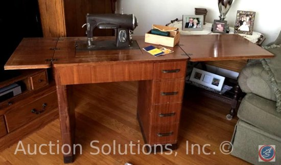 Small Sears Kenmore Model 566.3064 Vintage Cabinet Sewing ...
