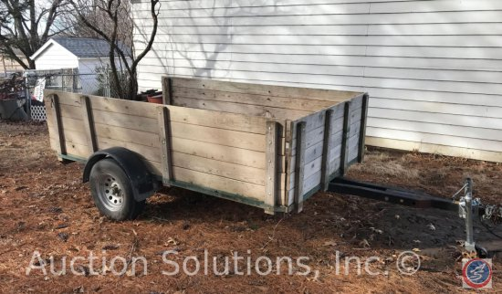 Single Axle Utility Trailer w/ Sideboards and Tailgate.