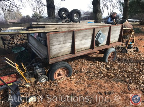 Vintage Farm Wagon and contents