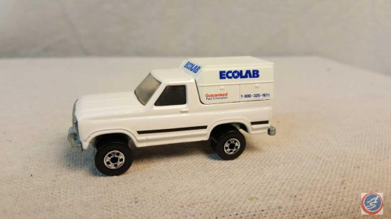 "Hot Wheel die cast car marked ""EcoLab"""