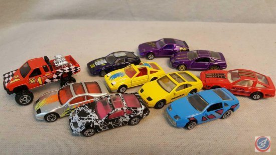 (10) die cast cars from brands Hot Wheels, Maisto, and Matchbox. Includes (6) Nissan 300 2X, and
