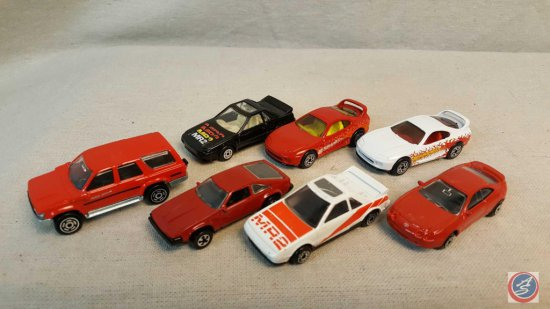 (7) Matchbox and Maisto die cast cars including: Supra, Celica GT, and more