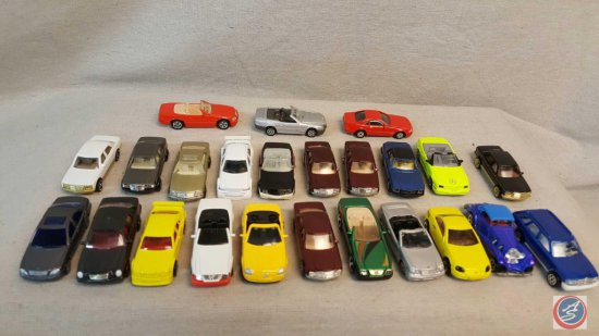 (24) die cast Mercedes Benz cars.