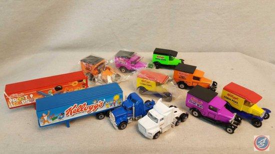(10) Match Box die cast cars including Model A Frosted Mini Wheats, Model H Raisin Bran, Model T